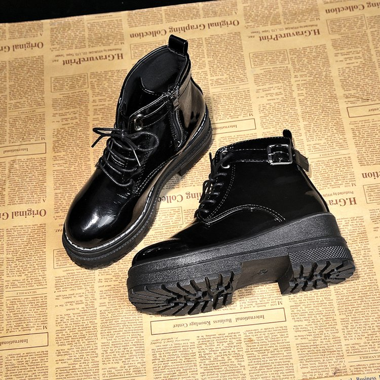 Image 5 - Aleafallling Women Boots Thicken Warm Winter Snow Boots Thicken Non slip Zip Girl's Leather Shoes For College Students AMBT199-in Ankle Boots from Shoes
