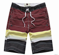 New brand frivolous men's beach shorts casual stripe Easy to dry men shorts loose comfortable mens board short #A0