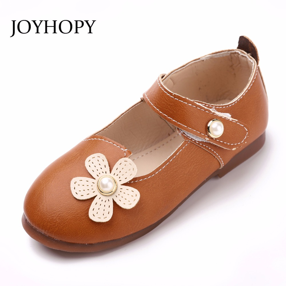JOYHOPY Spring Autumn Children Shoes PU Leather Cute Cartoon Quality Princess Flower Gir ...