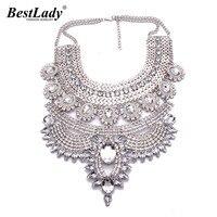 Best lady heiße verkäufe hohe qualität vintage schlaffe tröpfchen metall aussage maxi halsketten & anhänger sommer feinen schmuck b4116