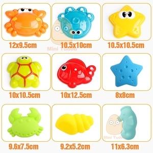 Image 4 - Conjunto de brinquedos de praia, plástico, crianças, areia com modelo de animal bonito, pá, balde, conjunto de areia, jogo de ferramentas de praia para crianças jogo jogo tabuleiro