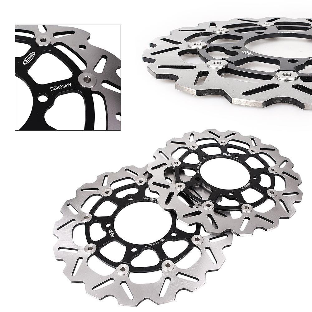 GZYF 2 pièces Avant disque de frein Rotors pour Suzuki GSXR 600 750 2006-2007 K6 & GSXR1000 2005 2006 2007 2008 K5 K7 Noir