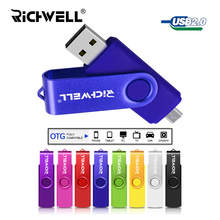 Smart Phone USB Flash Drive Metal Pen Drive 64gb pendrive 8gb 16gb 32gb OTG external storage micro usb memory stick Flash Drive