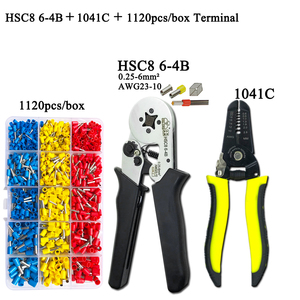 Image 4 -   Electrician Pliers Junction Box Mini Pliers Tool Kit HSC8 6 4 0.25 6mm2 23 10AWG Crimping Wire Stripping:10 24awg 0.2 6.0mm2