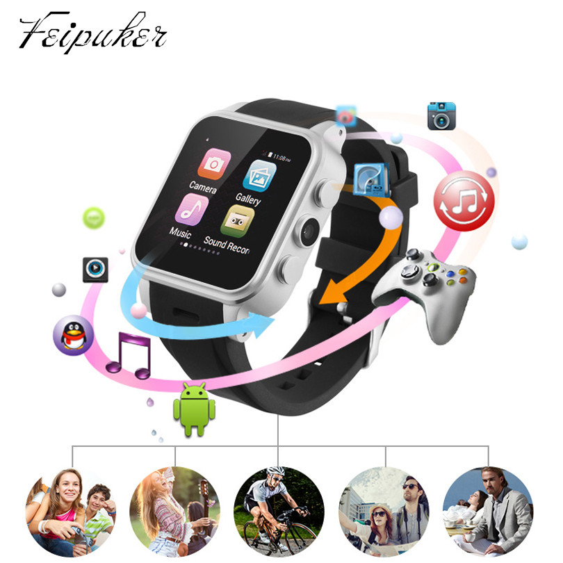 New Arrival PW308 Update Version Smartwatch AndroidWatch with 3G SIM Compass GPS Watch Wearable Devices Smart Electronic 2016 update gv08 smart watch 15 inch 2mp