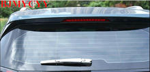 BJMYCYY Car Styling Fit For 2017 Peugeot 3008 Accessories Rear Wiper Chrome Trim Strip Silver Mirror Exterior Decoration