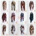 2016 Envío libre Más Nuevo estilo Europeo de la manera de la tela escocesa de manta para el invierno