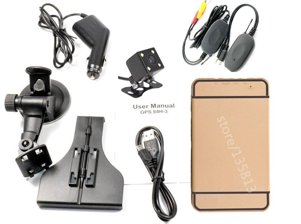 7 zoll Auto GPS Navigation Bluetooth AV-IN GPS Drahtlose kamera Reverse Parkplatz system
