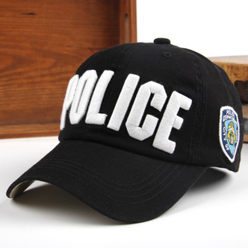 New Police Cap Unisex Hat Cotton Baseball Cap Men Snapback Caps  Adjustable Sun Sports Snapbacks For Men Women