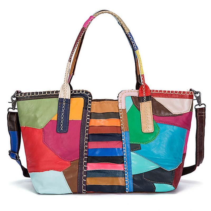 Peau Conception Couleurs De Dames Main Mode Sacs Épaule Totes Mlt9988 Colored Femme Stripe Cuir Plaid En Femmes Yishen Bandoulière colored Tissage À Vache Véritable xI4tqIwO