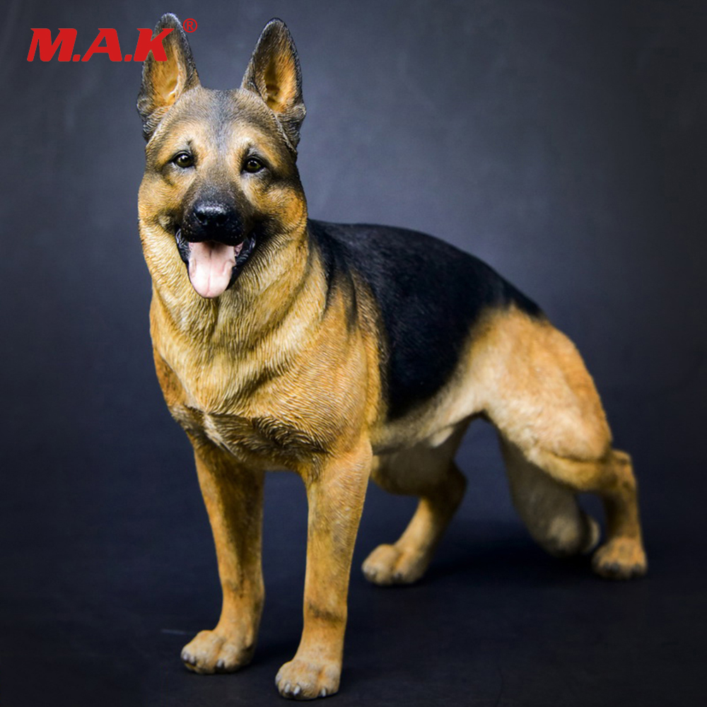 1/6 Working Dog Model German Shepherd With Collar Anime Statue for 12 inches Action Figure Accessories Collections цена