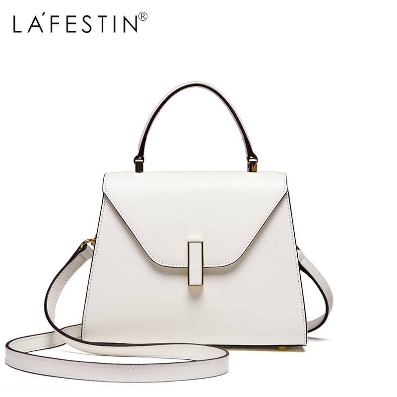 LAFESTIN Women Handbag Versatile Genuine Leather Shoulder Bag Luxury Multifunction Brands Crossbody Bag Bolsa lafestin luxury shoulder women handbag genuine leather bag 2017 fashion designer totes bags brands women bag bolsa female