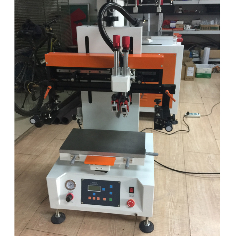 Flatbed Auto Matic Desktop Vacuum Silk Screen Printing Machine