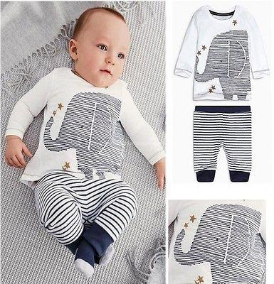 Babykleding Print.Nieuwe 2015 Herfst Baby Jongens Kleding Mooie Olifant Print Baby