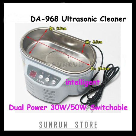DA-968 Dual Power 30W 50W Ultrasonic Cleaner With Display 220V Stainless Steel Intelligent Ultrasonic CleaningDA-968 Dual Power 30W 50W Ultrasonic Cleaner With Display 220V Stainless Steel Intelligent Ultrasonic Cleaning