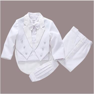2018  fashion white / black baby boy suit kids blazers boy suit for weddings prom formal spring autumn wedding dress boy suits Pakistan