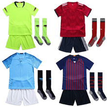daf1b6b8236 Boys Football Jerseys 18 19 Survetement Football Suits kids Training  Jerseys Customize Children Soccer Sets