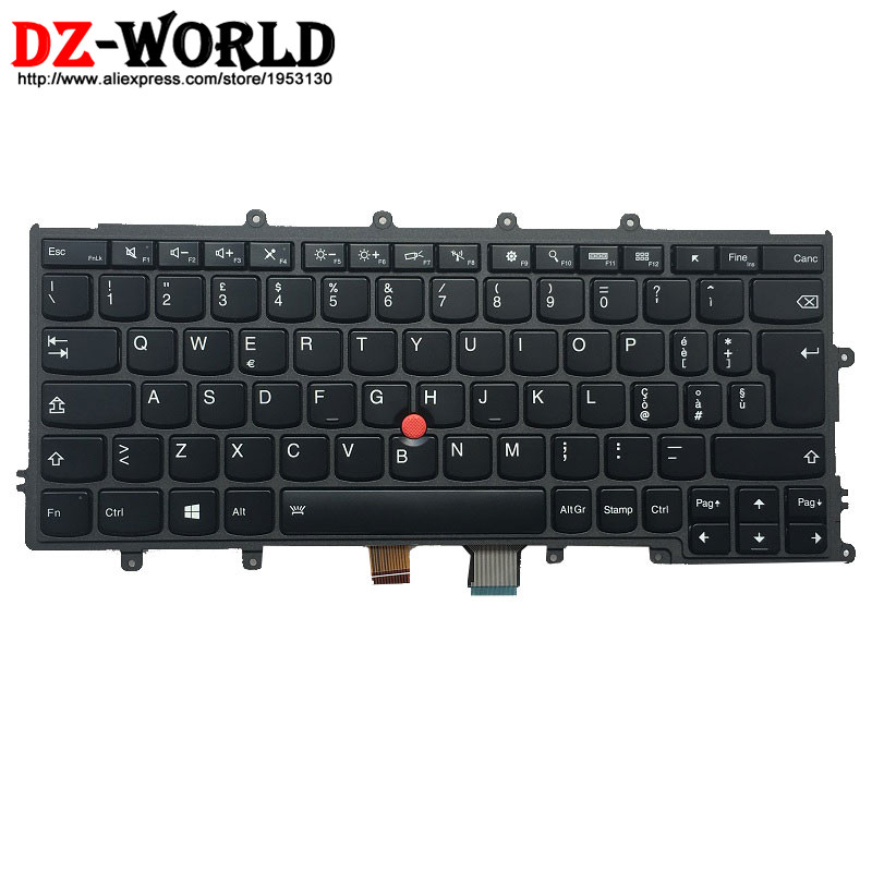 New Original for Lenovo Thinkpad X230S X240 X240S X250 X260 Backlit Keyboard Italian Backlight Teclado 04X0194 04X0232 0C43999 neworig keyboard bezel palmrest cover lenovo thinkpad t540p w54 touchpad without fingerprint 04x5544