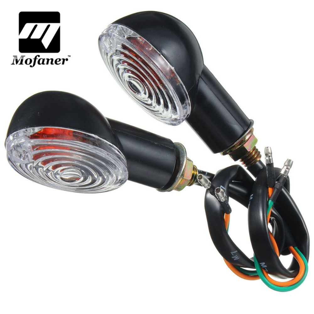 1 Pair 12V LED Turn Signal Light Motorcycle Indicators Lamp Amber Blinker For Kawasaki