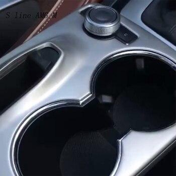 Автомобильный Стайлинг, Декоративная полоса переключения передач, панель для стакана воды, наклейки, отделка для Mercedes Benz GLK X204, автомобильны...