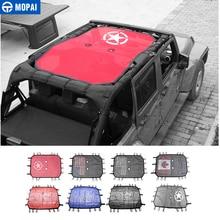 MOPAI 4 drzwi na dach samochodowy Bikini z siatką górna osłona przeciwsłoneczna UV parasol przeciwsłoneczny Mesh dla Jeep Wrangler JK 2007 2017 akcesoria samochodowe stylizacja