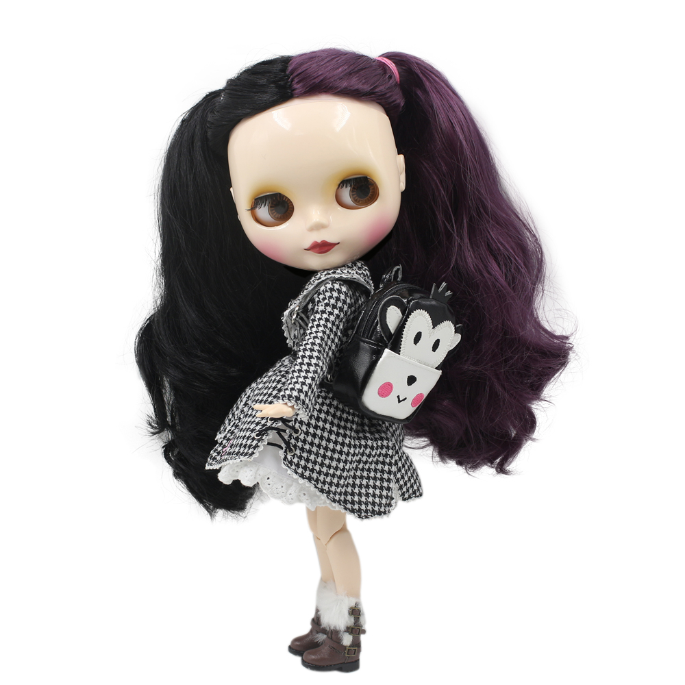 """BJD ICY Factory Blythe Doll Nude Joint Body Ginger Hair Super Black Skin 12/"""" Toy"""