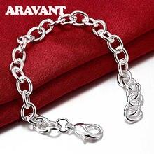 Простой браслет из серебра 925 пробы цепь для женщин мужская