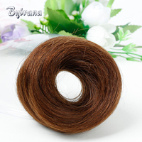 Bybrana Black Brown 4 Colors Remy Brazilian Hair Human Chignon Donut Buns Chignon Extensions For Women