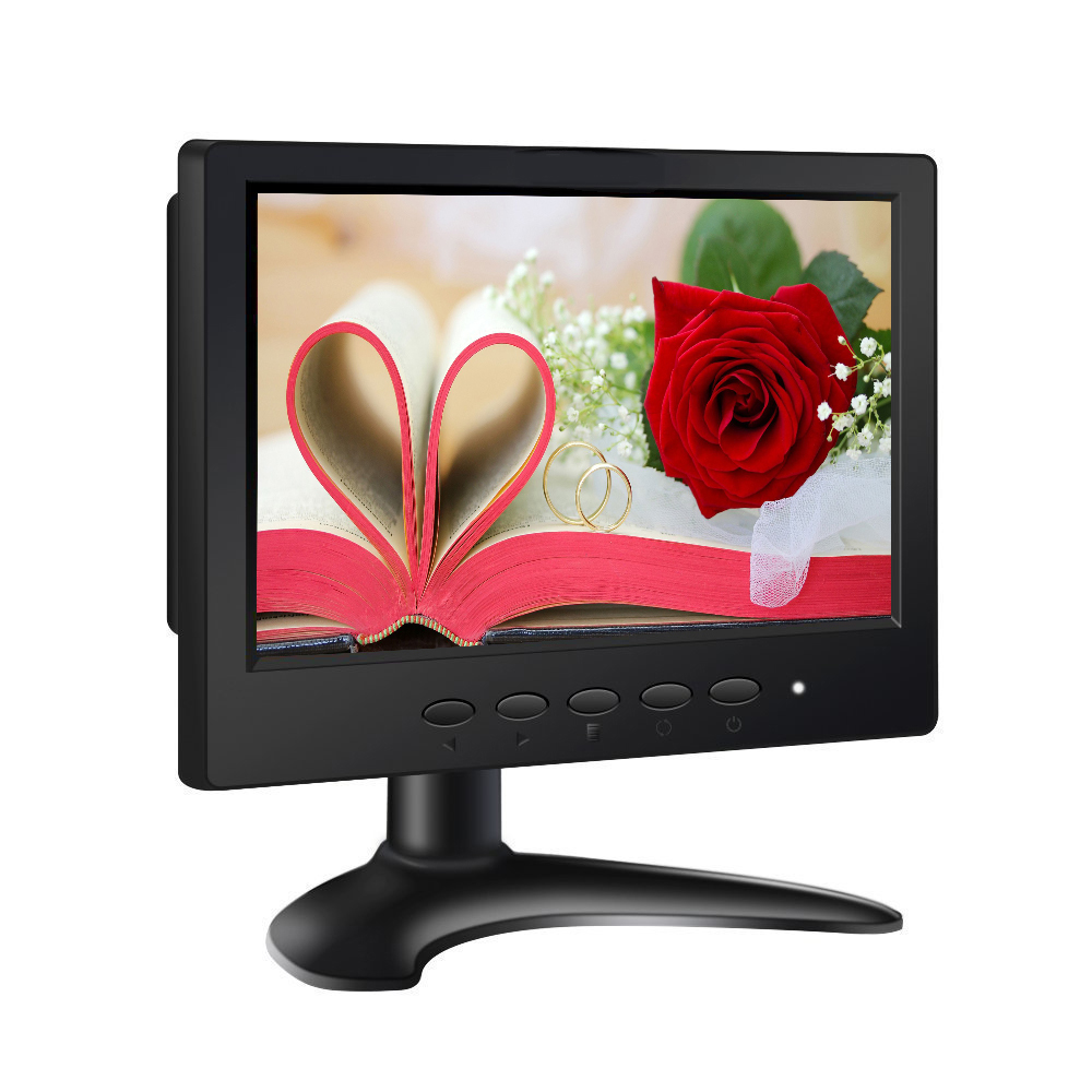 7 TFT LCD Touch Monitor Display 1024*600 VGA HDMI BNC Audio Video for PC DVD TV CCTV Monitors Car Monitor with Speaker