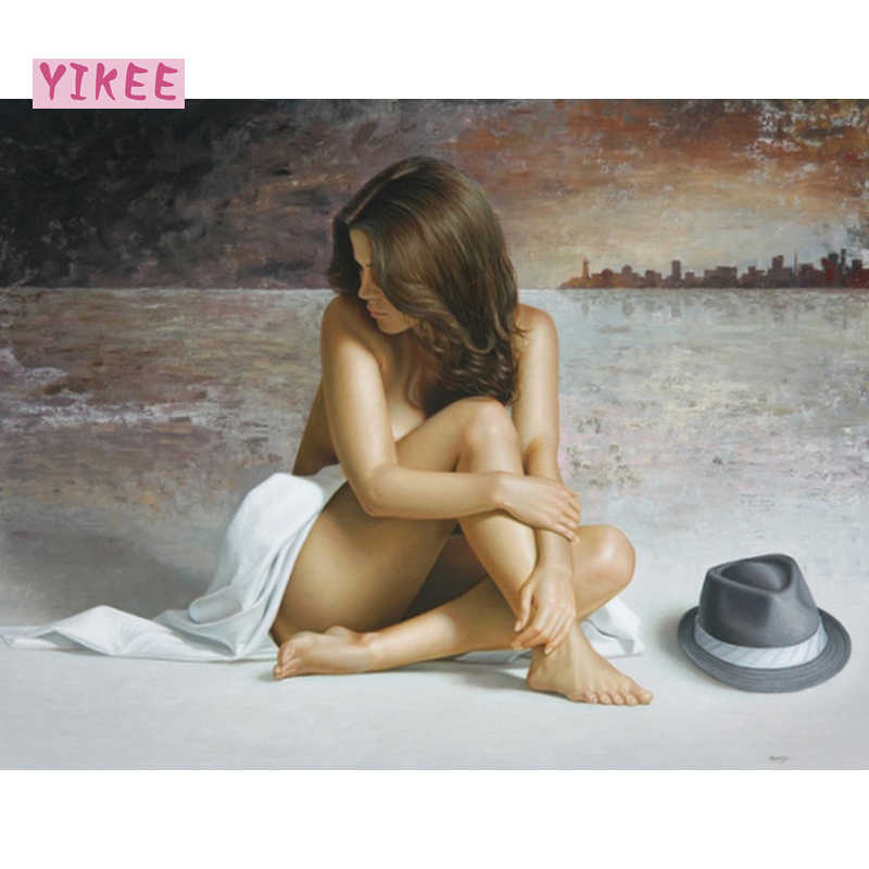 by numbers paint,Naked girl,painting by numbers for home decoration