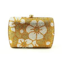 Heißer Verkauf Gelb Frauen Handtasche Tasche Silber Kette Strass Kristall Clutch Abendtasche Blumenmuster Pakistanische Braut Kupplungen
