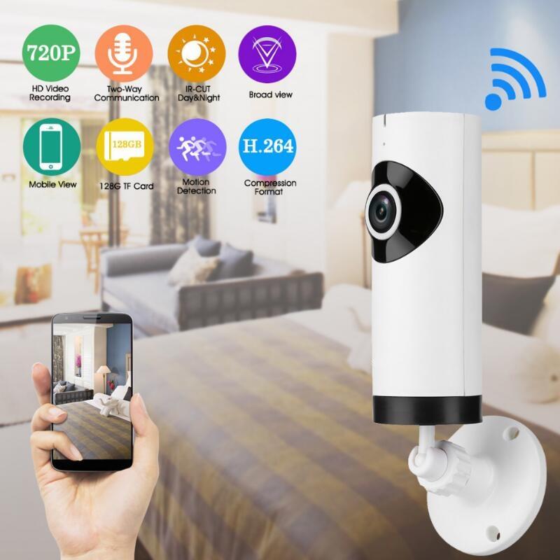 Home Security IP Camera Wireless 360 degree Mini IP Camera 720P HD Surveillance Camera Wifi CCTV Camera Panoramic Fish-eye cam