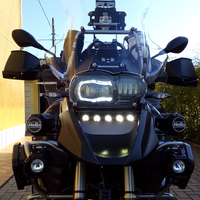 For BMW R1200GS Adventure 2005 2013 Oil Cooled Headlamp Hi Low beam with Angle eyes No need Canbus No need wire Plug in Play