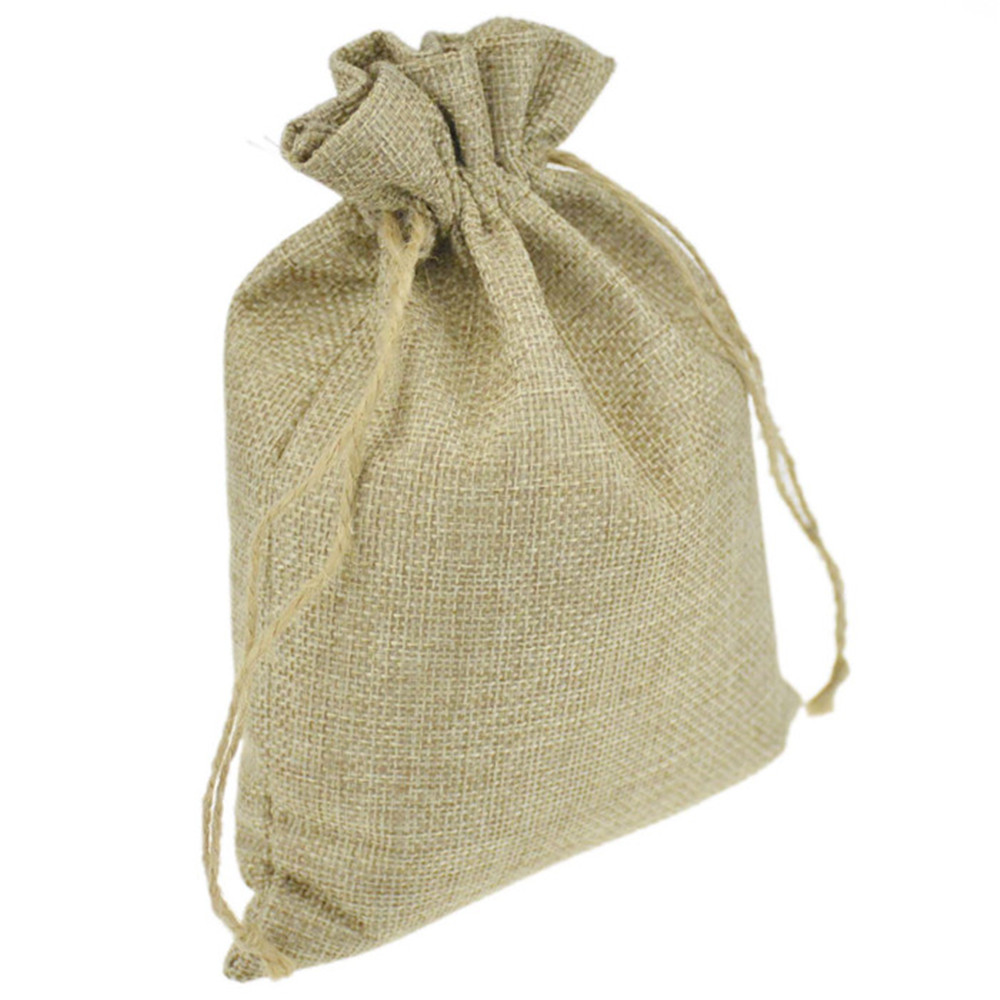 Wholesale faux jute burlap hessian Drawstring Packaging Bags Wedding ...