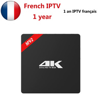 M92 Android TV Box With 1800 France Europe Arabic IPTV 1 Year 1GB 8GB RK3229 French