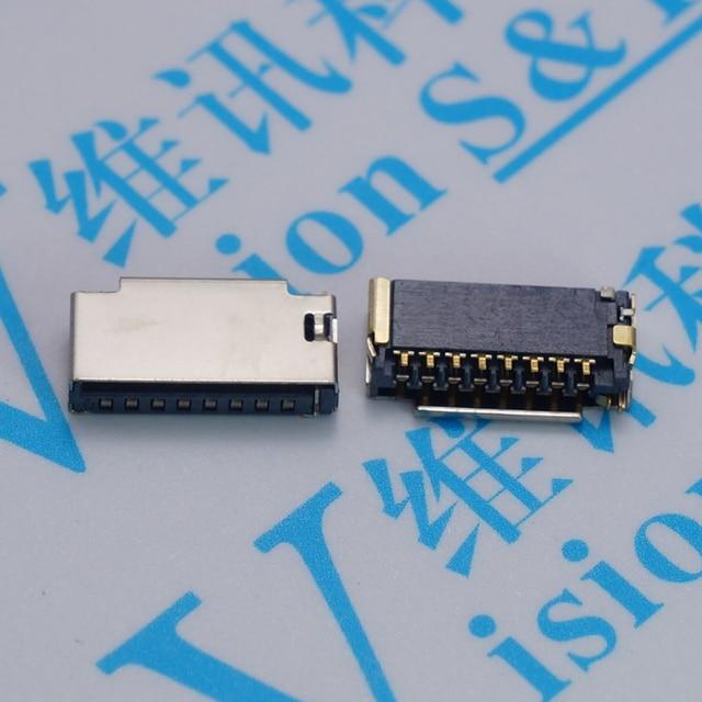 10 CÁI/LỐC Ngắn TF thẻ mini MICRO SD với phát hiện pin khe cắm bộ nhớ plug-in Kết Nối
