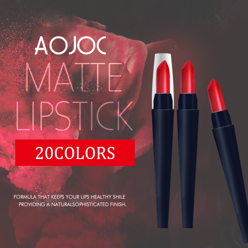 matte velvet Lipstick Beauty Pop Matte Lipstick Cosmetic Batom Creamy Tint Color Balm Makeup korea beauty pudaier lipstick set ...
