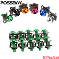 POSSBAY 10X M6 6mm Motorcycle Motocicleta Scooters Fairing Body Bolts Spire Speed Fastener Clips Screw Spring Bolots Nuts Bolts