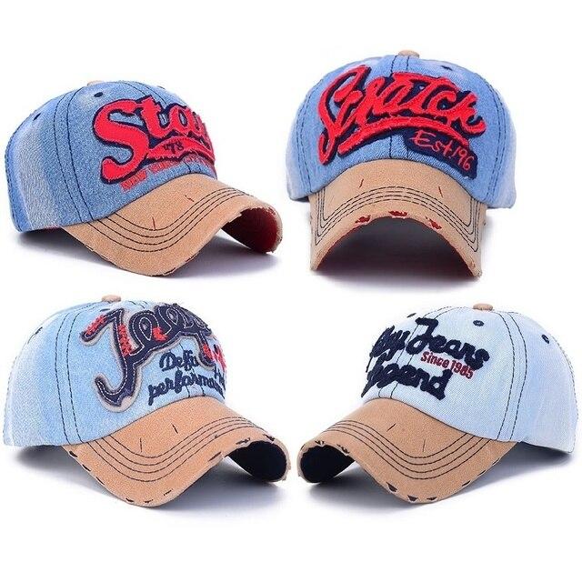4 style 20 colors bone caps baseball men and womens polo hats jeans  snapback hats 0419bf01f91d