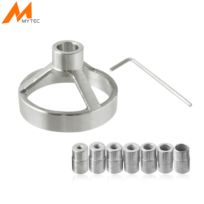 цена на MYTEC 90 Degree Drill Guide 5/6/7/8/9/10/12mm Drill Bit Hole Puncher Locator Jig Stainless Steel Bushing Woodworking Tools