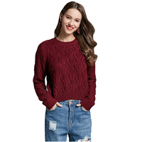 Fall Winter Cable Knit Sexy Crop Top Sweater for Women Hot Girls Slim Fit Knitted Cropped Pullover Jumper Oversized S 3XL