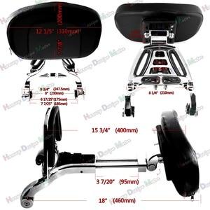 Image 2 - Chrome Multi Purpose Adjustable Driver & Passenger Backrest For Harley Touring Street Glide Road King Softail
