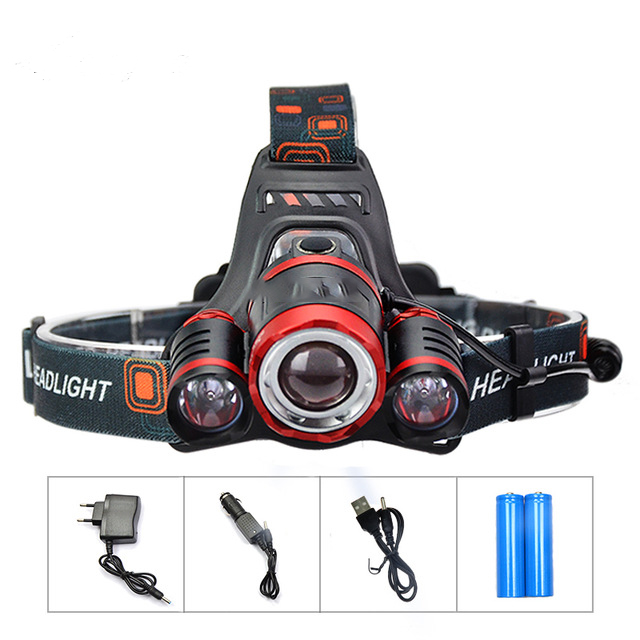 18650 Head Lamp Flashlight Head Rechargeable Head Torch 10000Lm3 XML T6 LED Flashlight Headlamp Fishing Hunting without logo