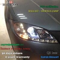 Hireno Headlamp for 2006 2012 Mazda 3 Mazda3 Headlight Assembly LED DRL Angel Lens Double Beam HID Xenon 2pcs