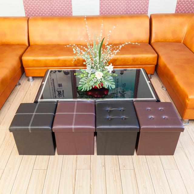Practical PVC Leather Square Shape Surface with Line
