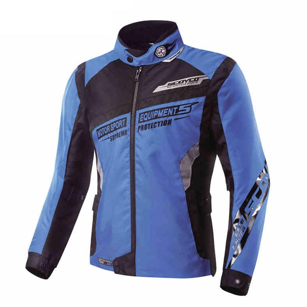 SCOYCO Motorcycle Jacket Men's Summer Breathable Motorbike Riding Body Armor Jacket Motocross Racing Suit Clothing Jackets