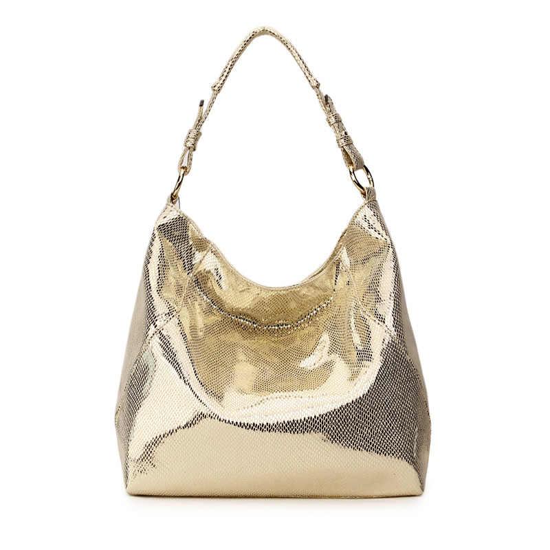 Smiley sunshine Роскошная Брендовая женская сумка кожаная сумка большая сумка Хобо через плечо сумка для женщин сумка на плечо женская серебряная сумка-шоппер