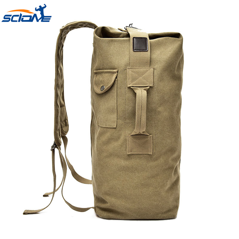 Vintage Tone Canvas Military Canta Backpacks for Travel Large Capacity Sports Army Bags for Man Outdoor Tactical Shoulder Bag