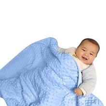 Новорожденных Детское Одеяло Теплый Флис коляска крышка Стёганое одеяло комбинезон для сна