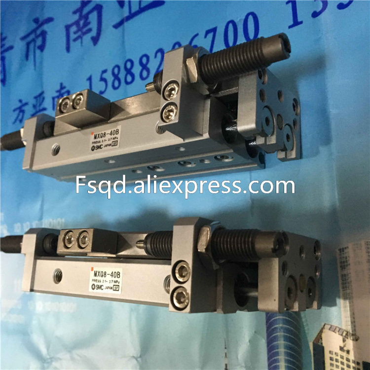 MXQ8-10BS MXQ8-20BS MXQ8-30BS MXQ8-40BS MXQ8-50BS MXQ8-75BS SMC air slide table cylinder pneumatic component MXQ series brand new japan smc genuine slide table mxq8 20
